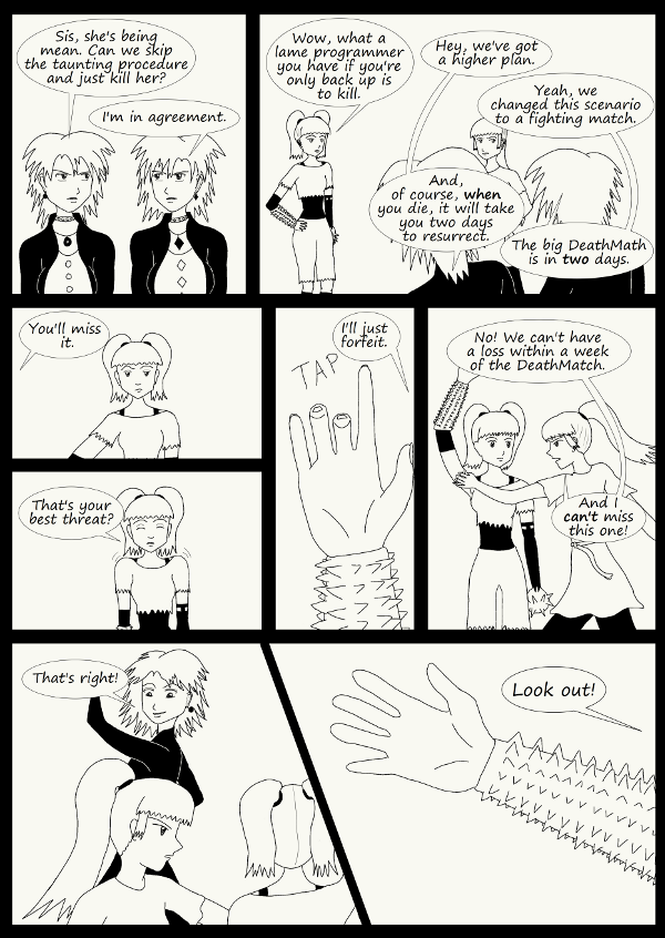 'Not A Villain' Webcomic - The fight starts and they have to win it or else.