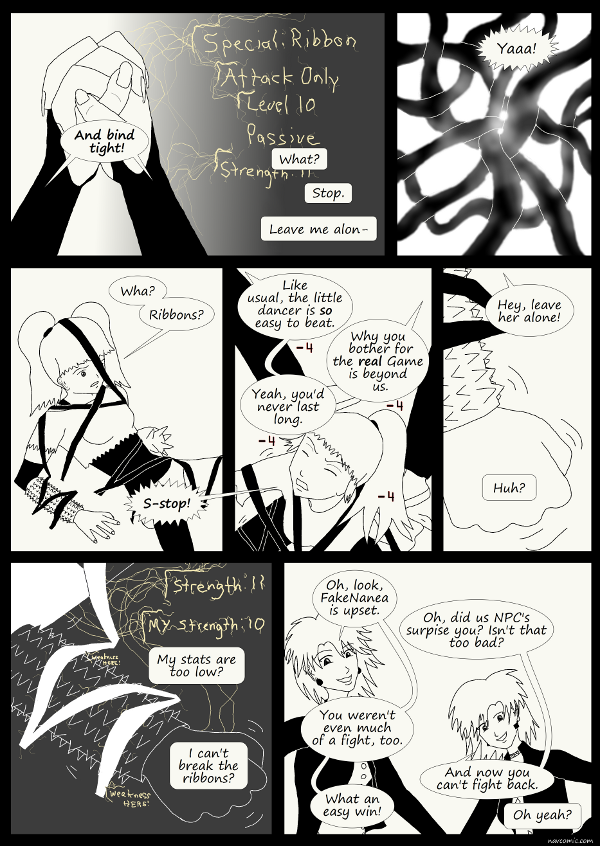 'Not A Villain' Webcomic - The twins are winning and taunting with glee.