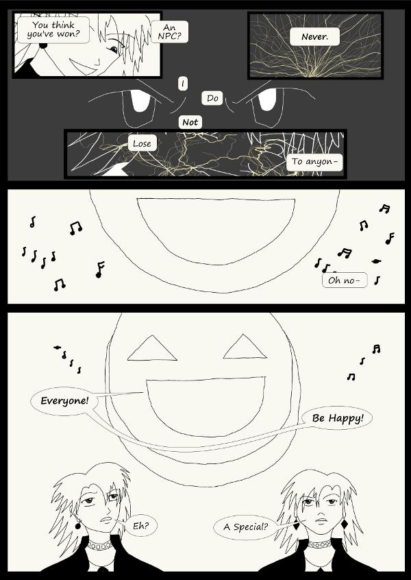 'Not A Villain' Webcomic - Kleya hacks. Hero Smiley shows up!