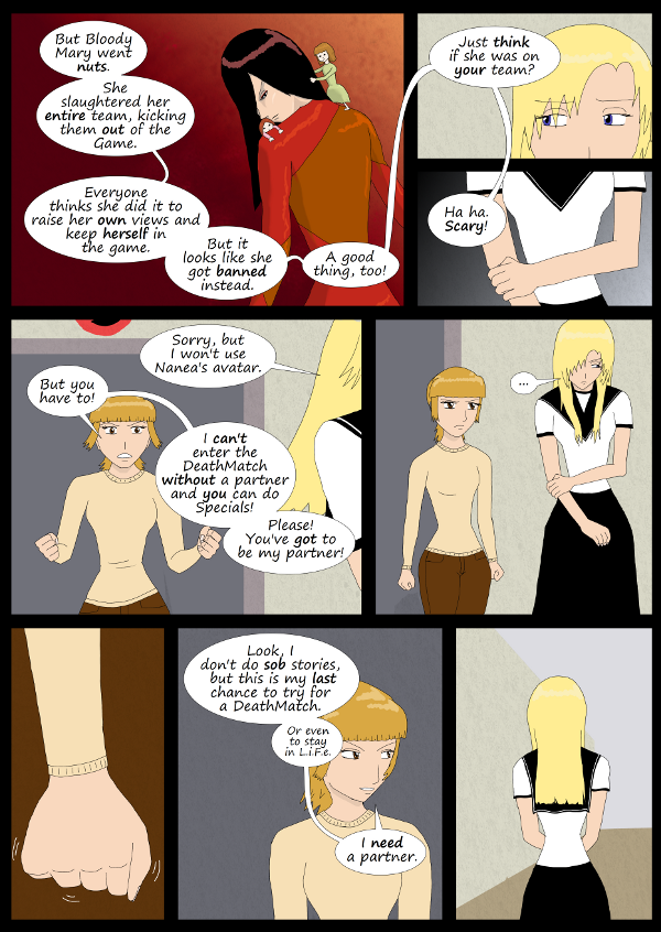 'Not A Villain' Webcomic - Bloody Mary slaughtered her team. Danni really needs Kleya to be her partner.