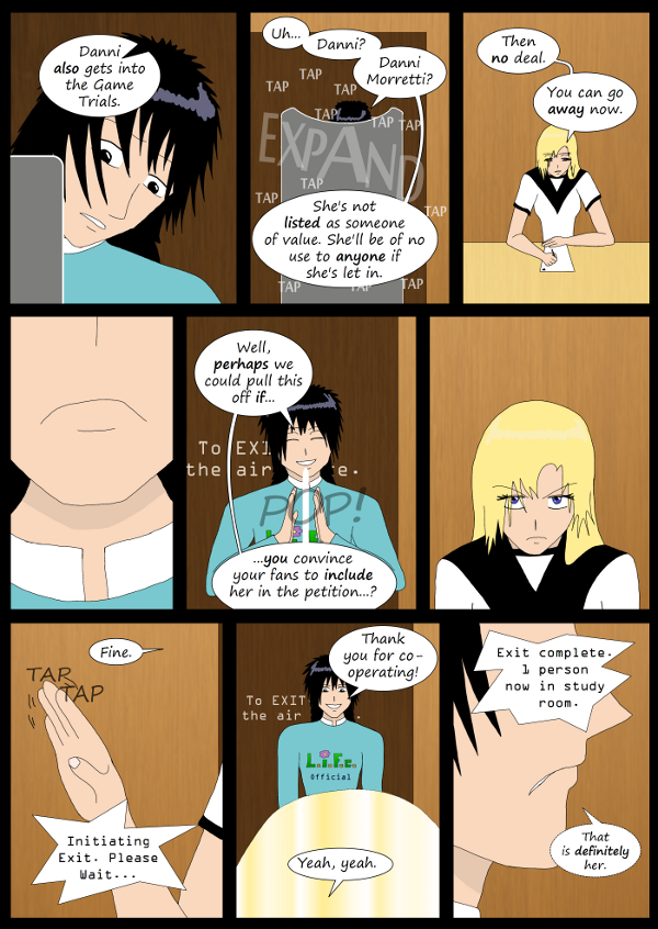 'Not A Villain' Webcomic - Kleya must go convince her fans to let Danni into the Game Trials