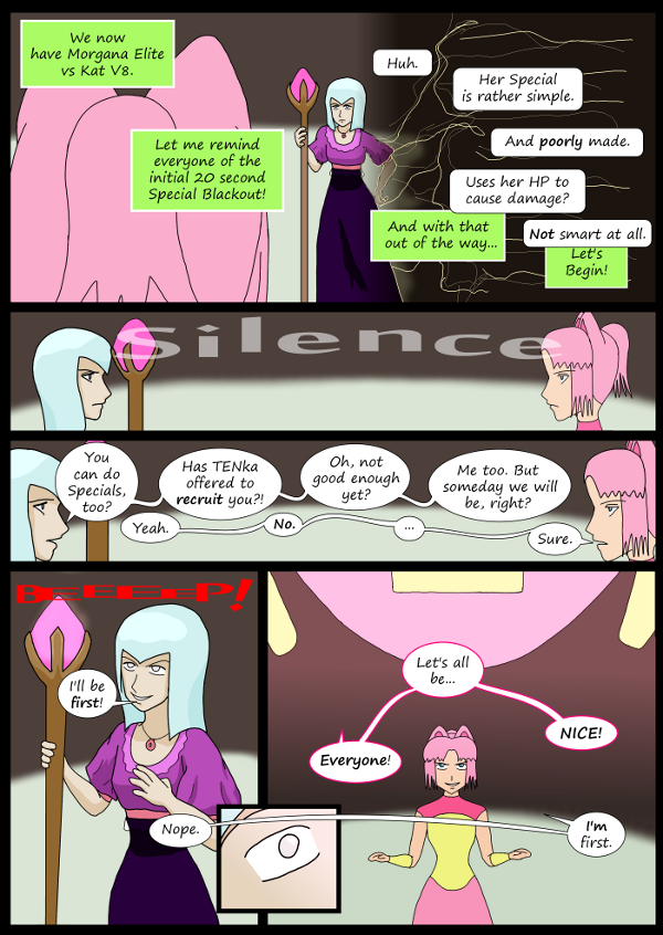'Not A Villain' Webcomic - Kleya goes up against Morgana Elite. She can do Specials, too.