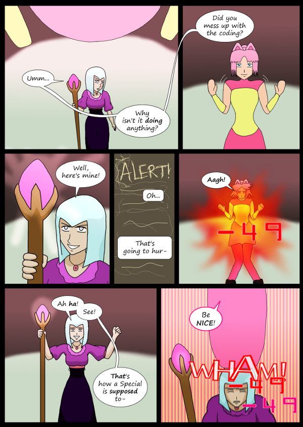 'Not A Villain' Webcomic - Morgana's special is cool, but not cool enough.