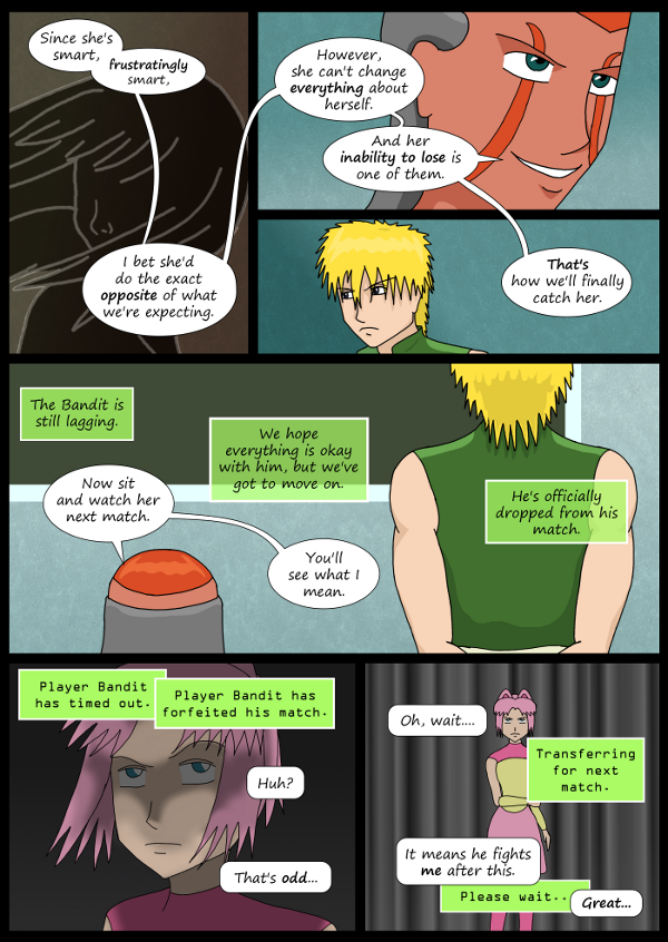 'Not A Villain' Webcomic - Dr Grace knows Kleya's weakness.