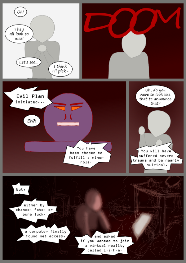 'Not A Villain' Webcomic - Side Story about Annie, blob #48