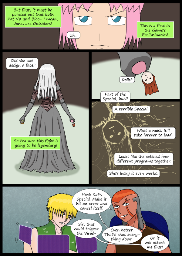 'Not A Villain' Webcomic - Bloody Mary and Kleya begin their fight!