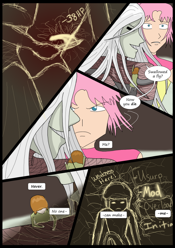 'Not A Villain' Webcomic - Kleya is losing so she starts to hack.
