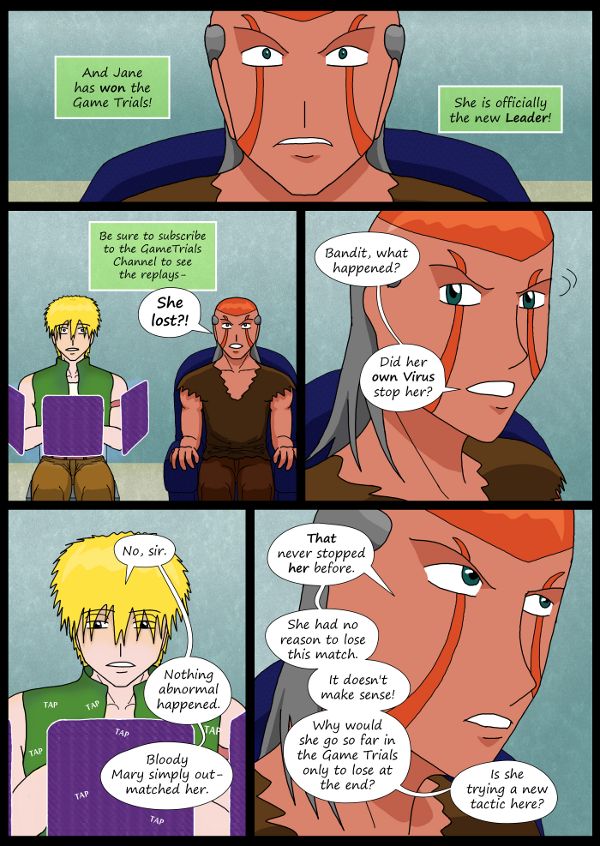 'Not A Villain' Webcomic - Kleya has lost. Dr Grace is in shock.