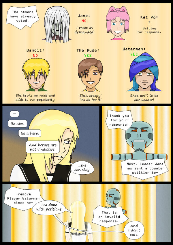 'Not A Villain' Webcomic - Kleya and petitions don't mix.
