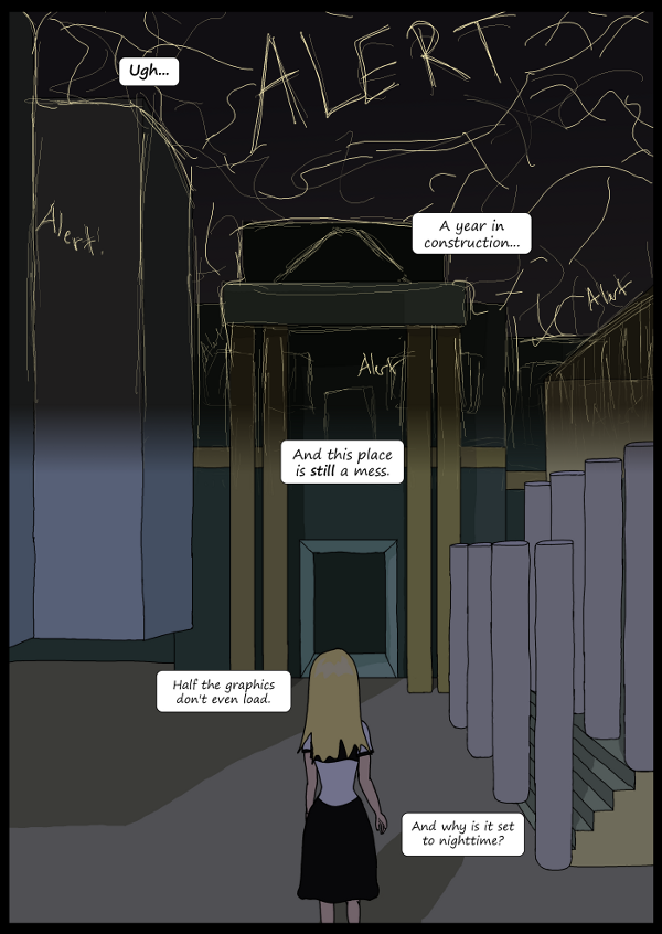 'Not A Villain' Webcomic - Kleya enters the broken and dark University.