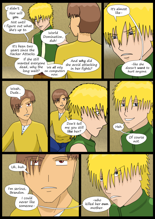 'Not A Villain' Webcomic - Dude accuses Bandit of still liking Kleya.