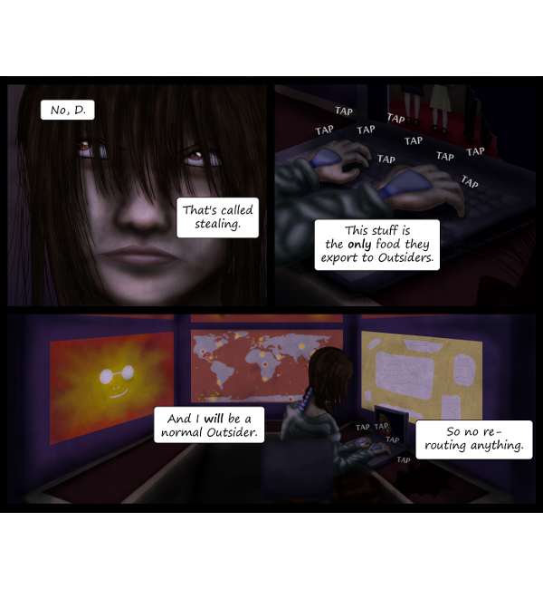 'Not A Villain' Webcomic - Kleya wants to be a normal Outsider