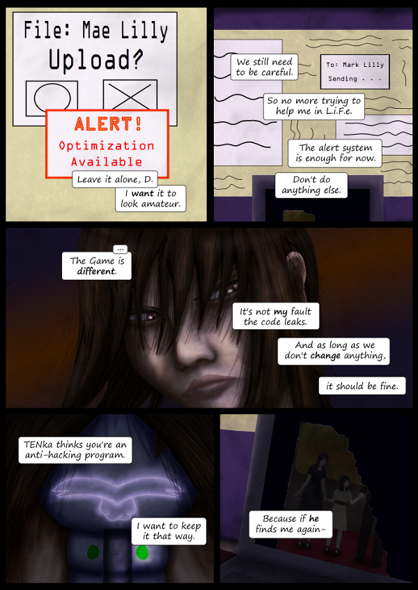 'Not A Villain' Webcomic - Kleya doesn't want to be found by the mysterious 'he'
