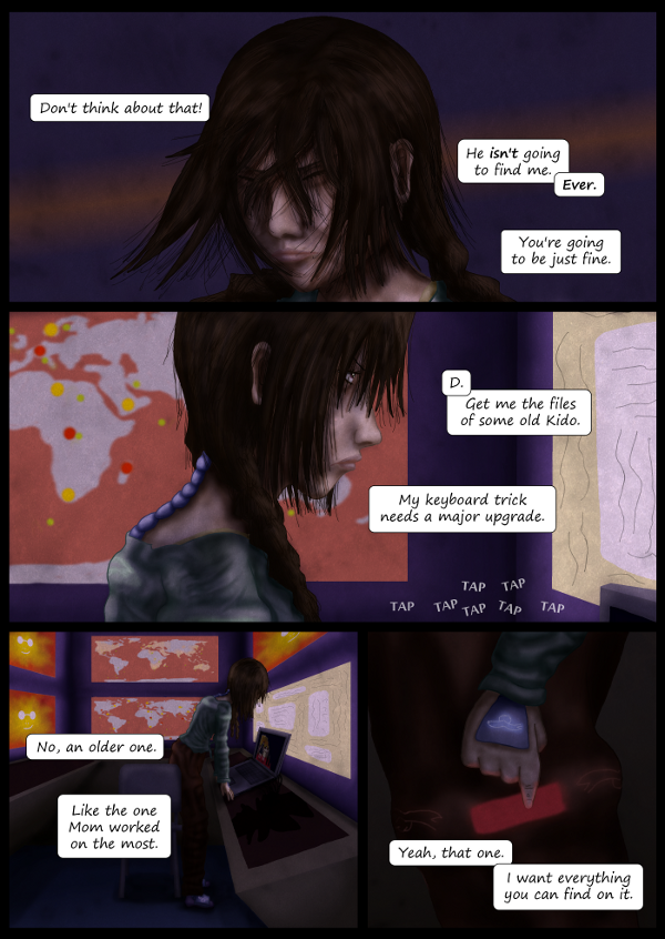 'Not A Villain' Webcomic - Kleya tells D to get her some Kido files.