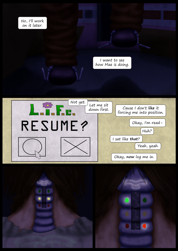 'Not A Villain' Webcomic - Kleya logs back into L.i.F.e.