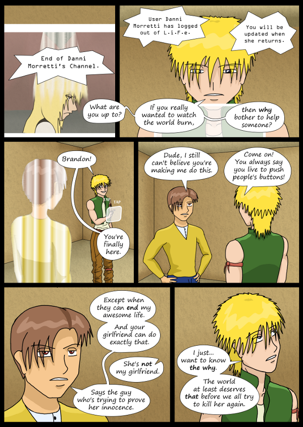 'Not A Villain' Webcomic - Bandit and Dude chat about Kleya.