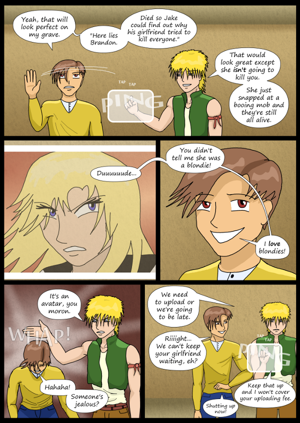 'Not A Villain' Webcomic - Dude continues to tease Bandit about his 'girlfriend'.