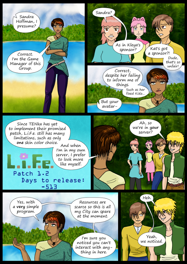 'Not A Villain' Webcomic - Sandra shows up. They're in her server.