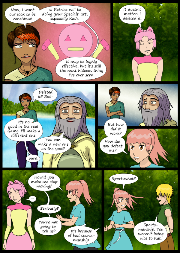 'Not A Villain' Webcomic - Kat deleted her NICE Special. Danni wants to know how it worked.