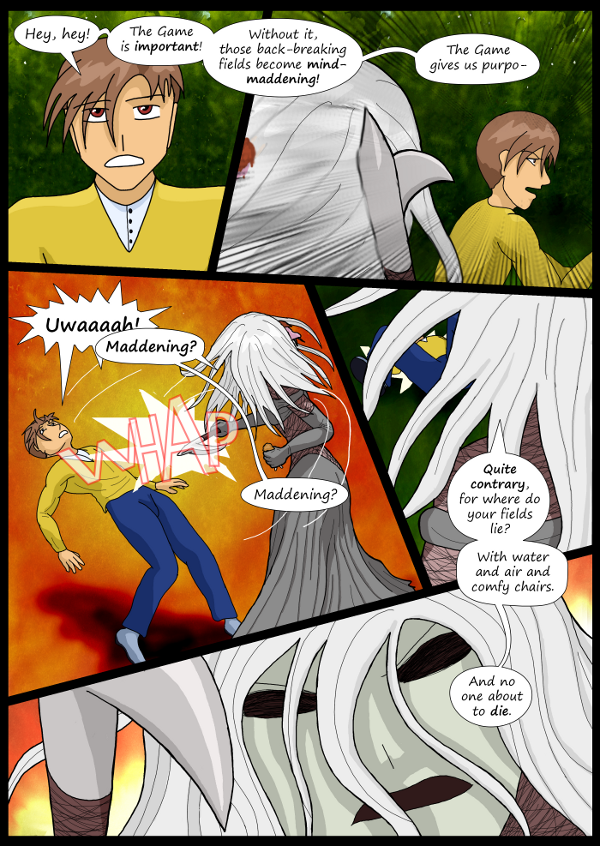 'Not A Villain' Webcomic - Jane is unhappy. Attacks The Dude.
