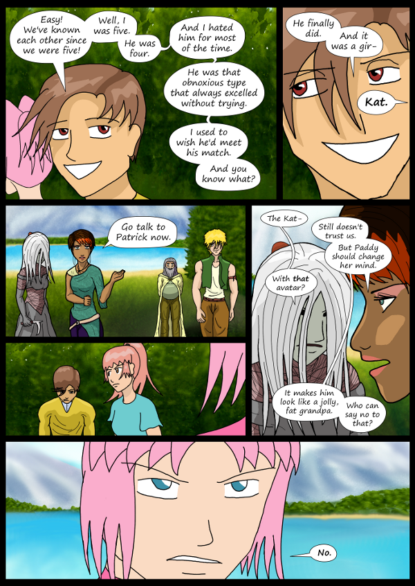 'Not A Villain' Webcomic - Dude's plan is foiled. Sandra and Paddy start on theirs.