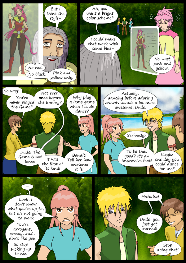 'Not A Villain' Webcomic - Paddy tries to reason with Kat. Danni reasons with the boys.