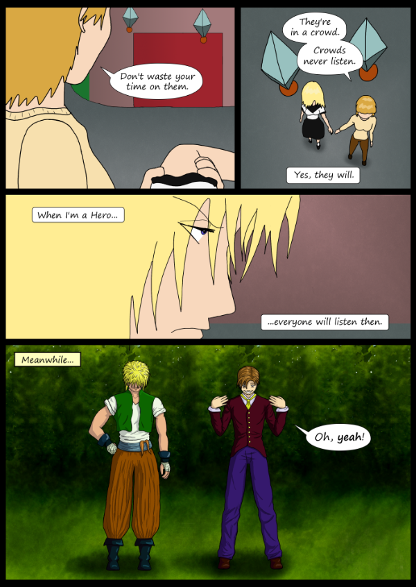 'Not A Villain' Webcomic - Kleya has a goal. Bandit and Dude check out their new avatars.