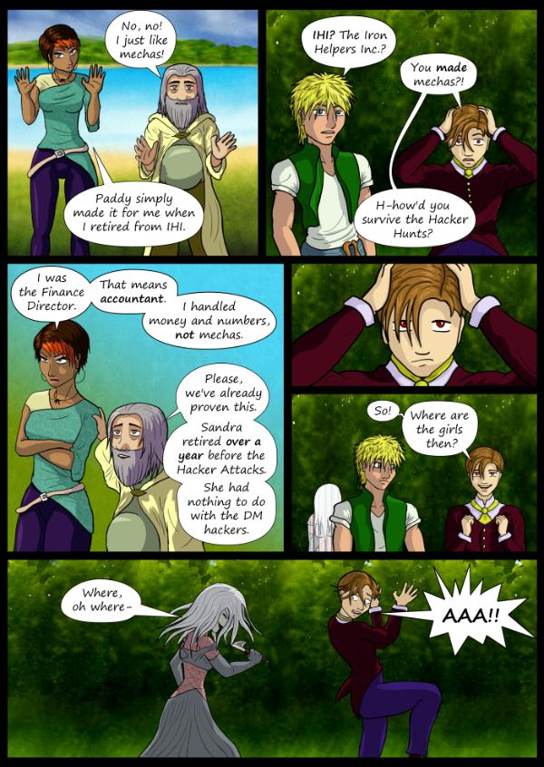 'Not A Villain' Webcomic - Learn a bit of Sandra's past.