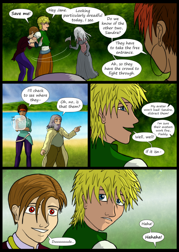 'Not A Villain' Webcomic - The arrival of more of the group!