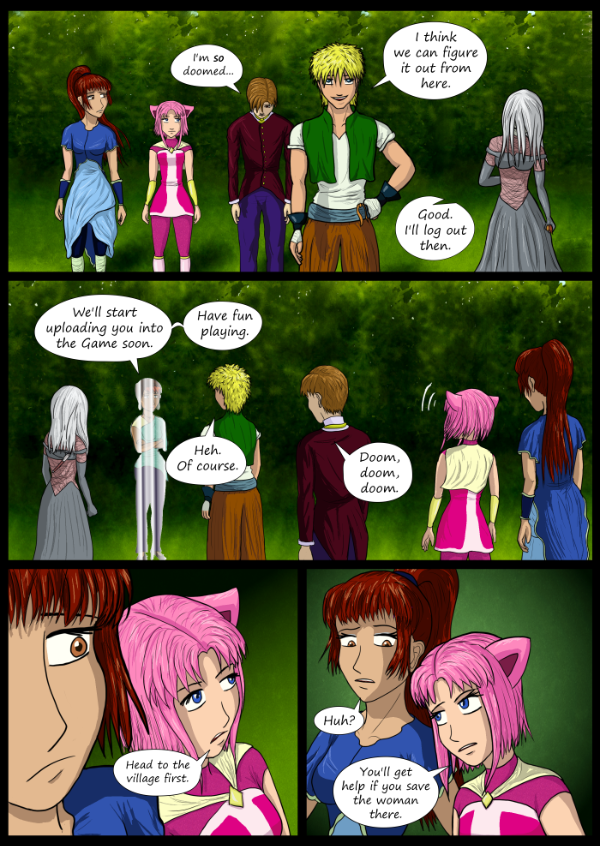 'Not A Villain' Webcomic - They're ready to upload. Kat gives Danni some pointers.
