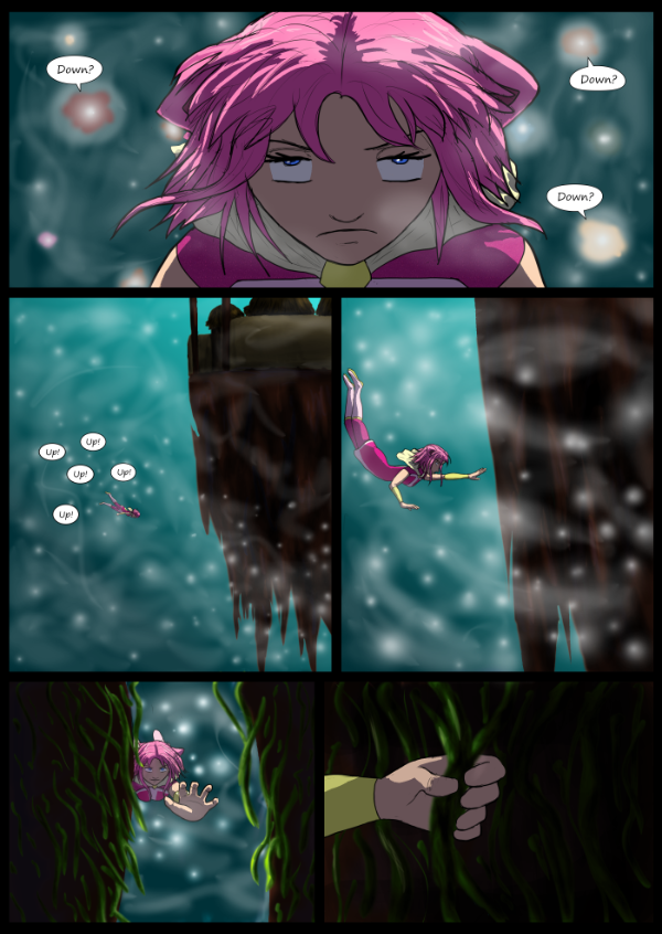 'Not A Villain' Webcomic - Kat navigates the mists