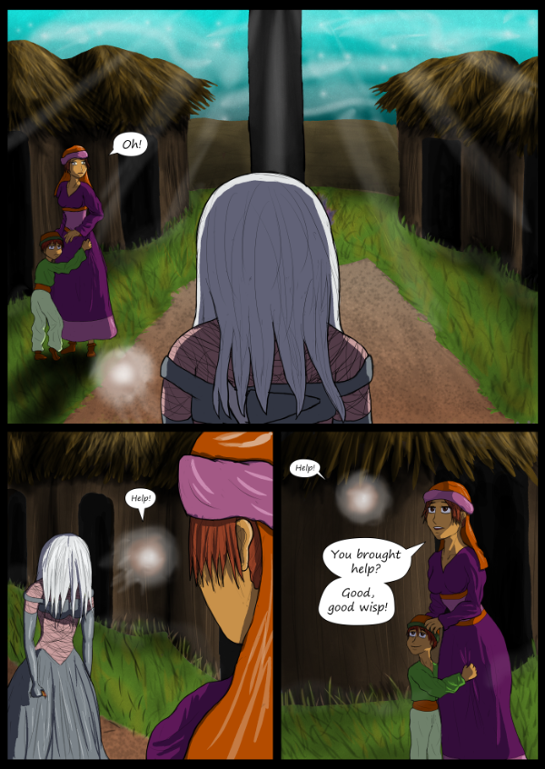 'Not A Villain' Webcomic - Jane shows up in the village. Meet NPCs.