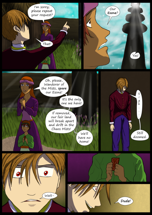 'Not A Villain' Webcomic - Dude tries to get an Esone.