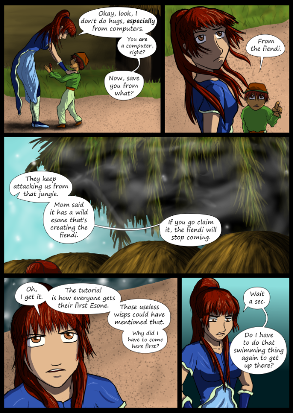 'Not A Villain' Webcomic - Danni learns the purpose of the tutorial.