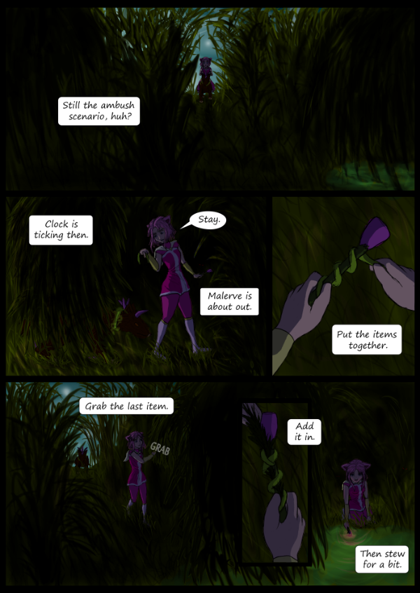 'Not A Villain' Webcomic - Kleya prepares for the final part of the tutorial.