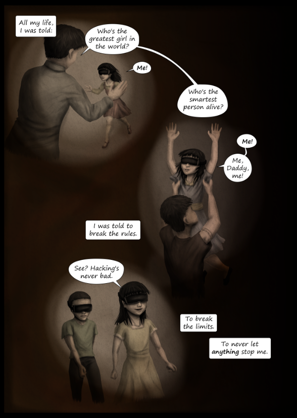 'Not A Villain' Webcomic - Kleya remembers her childhood.